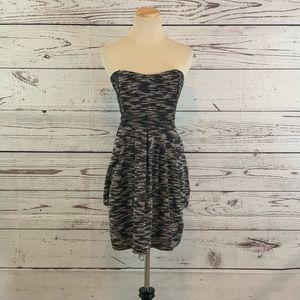 Free People Nyima Tweed Strapless Dress